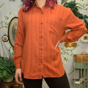 Vintage southwestern rust boho pattern shirt